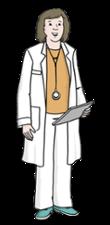 Illustration zeigt eine Ärztin