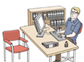 Illustration für Amt