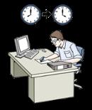 Illustration für Arbeitzeit