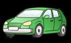 Illustration zeigt ein grünes Auto