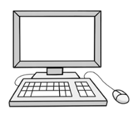 Illustration von einem Vomputer