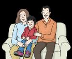 Illustration Eltern mit Kind