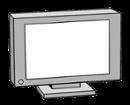 Illustration eines Fernsehers
