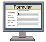Illustration eines Formulars im Internet