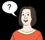 Illustration zeigt eine Frau mit einer Frage