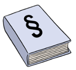 Illustration eines Gesetzbuches