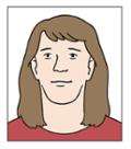 Illustration von einem Pass-Foto