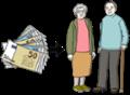 Illustration zeigt zwei Rentner