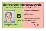 Illustration zeigt einen Schwerbehindertenausweis