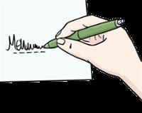 Illustration zeigt eine Hand beim Unterscheiben