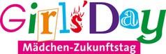Logo Girls Day, bunte Schrift, Wortlaut: Girls Day - Mädchen Zukunftstag