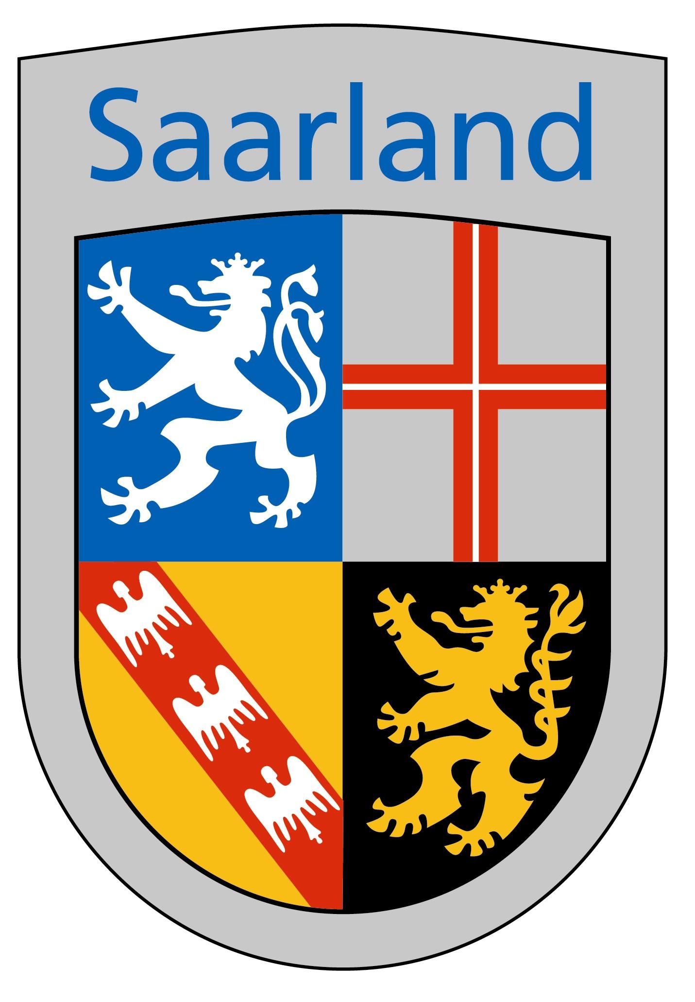 Stilisiertes Wappen des Saarlandes