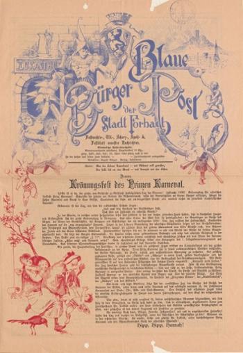 Bild zeigt ein Festblatt aus dem Jahr 1896