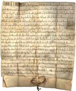 Bild zeigt ein mittelalterliches Dokument, Fraul 2