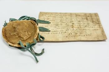 Bild zeigt ein mittelalterliches Dokument, Fraul 4