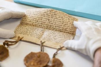 Bild zeigt ein mittelalterliches Dokument, Fraul 10