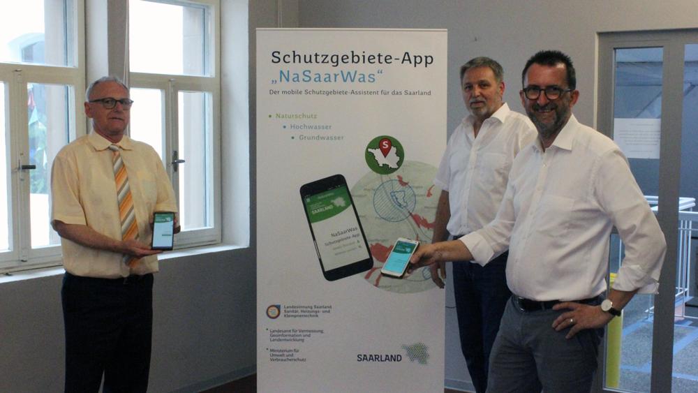 """Vorstellung der Schutzgebiete-App """"NaSaarWas"""""""