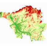 Reliefkarte Saarland