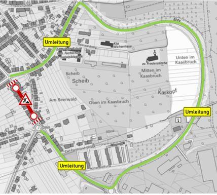 Straßenbauarbeiten der L 113/L 114 unter Vollsperrung zwischen Neunkircher Hermannstraße bis Kreisel an der Kirkeler Straße